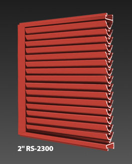 "2"" RS-2300 Storm Resistant Fixed Horizontal Louver"