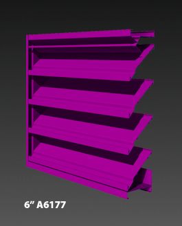 "6"" A6177 Drainable Louver"