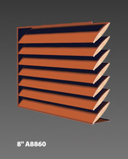 "8"" A8860 Acoustical Louvers"