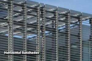 Horizontal Cantilevered & Suspended Sunshades