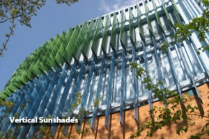 Vertical Cantilevered & Suspended Sunshades
