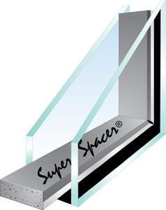 Super spacer premium premium plus warm edge spacer for for Super insulated windows