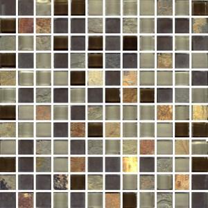Mosaic Glass - Brazilian Rio Square