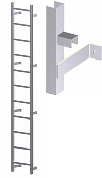 Hatch Access Light Duty Vertical Ladder - U100