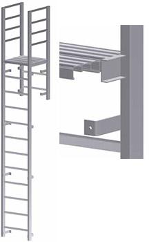 Parapet Access with Platform Vertical Ladder – U-203