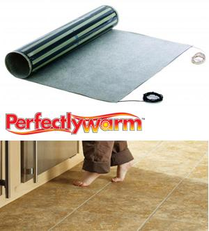 Perfectly Warm™ Peel and Stick Radiant Heat for Tile Floors