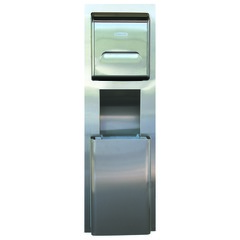 Series 35370 MOD Stainless Steel Recessed Wall Unit with Trash Receptacle