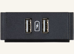 HPX-N102-USB-PC Dual USB Power Module with Printed Charging Symbol
