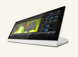 """MXT-1900L-PAN-NC 19.4"""" Modero X Series G4 Panoramic Tabletop Touch Panel (no Camera, no Microphone)"""