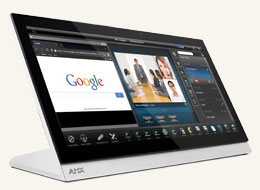 "MXT-2001-PAN 20.3"" Modero X Series G5 Panoramic Tabletop Touch Panel"