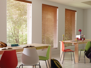 Wonderwood Fire-Rated Faux Wood Blinds