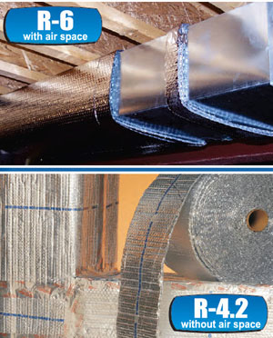 rFOIL™ R-4.2 and R-6 Reflective Duct Wrap Insulation