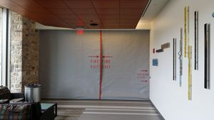 SD240GS 2-3 Hr Fire Protective Smoke Curtain® with Pass Through Slot