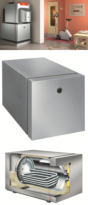 Vitocell 300-H Single Coil Domestic Hot Water (DHW) Tank