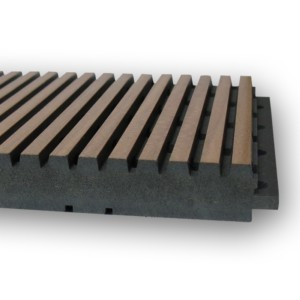 Solo Dark Core Wood Acoustical Plank for Ceilings and Walls