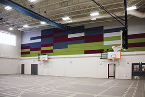 Acoustical Fabric Wrapped High Impact Wall Panels
