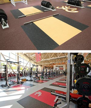 Inlaid Platforms for Indoor Sports Floors