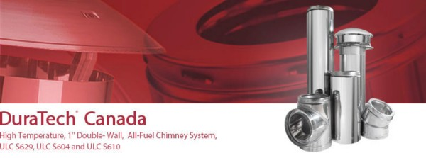 """DuraTech® CanadaHigh Temperature, 1"""" Double-Wall, All Fuel Chimney System"""