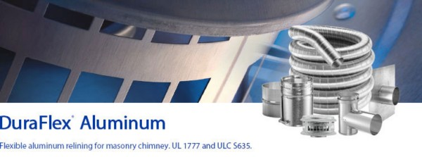 DuraFlex® Aluminum Flexible Aluminum Relining For Masonry Chimney