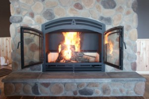The Hearthroom 44 Zero Clearance Wood-Burning Fireplace