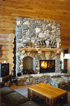 The chalet series wood burning fireplace acucraft for Wood burning fireplace construction