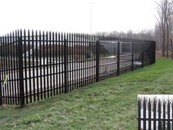 Stalwart IS® Anti-Ram Vehicle Barrier with High Security Fence