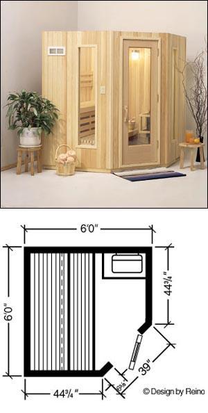 Finlandia Five-Sided Prefab Sauna