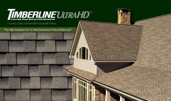 Timberline® Ultra HD™ Lifetime High Definition® Asphalt Shingles
