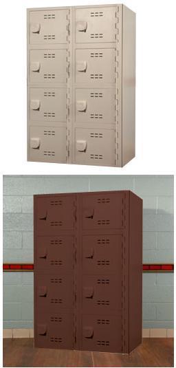 Solid Plastic HDP (High Density Polymer) Lockers