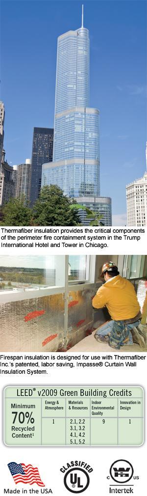 FireSpan® Mineral Wool Curtain Wall Insulation