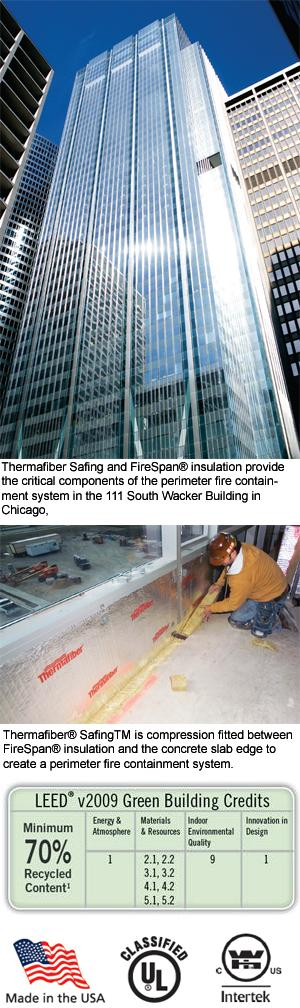 Fire Safing Details : Safing™ mineral wool firestopping insulation owens
