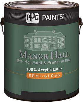 Manor hall exterior 100 acrylic latex semi gloss paint ppg paints sweets - Acrylic paint exterior plan ...