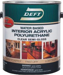 Deft® Polyurethane Interior Water Based Acrylic - Semi Gloss