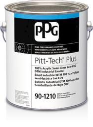 Pitt-Tech® Plus Interior/Exterior Semi-Gloss DTM Industrial Enamel