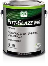 PITT-GLAZE® WB1 Interior Eggshell Pre-Catalyzed Water-Borne Acrylic Epoxy