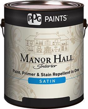 MANOR HALL® Interior Satin Acrylic Latex Paint