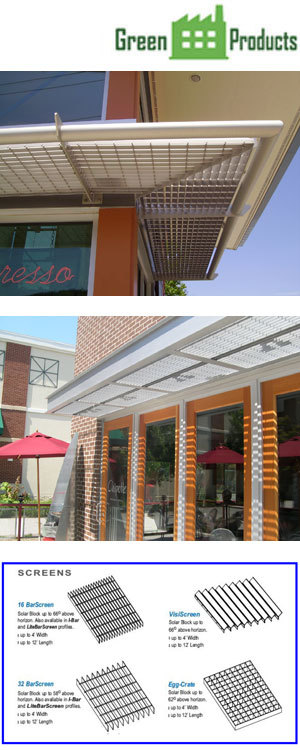 Sunshades - Bar Grille & Fixed Louver Styles