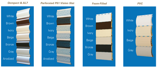StoreSafe® Rolling Shutters - Vision & Solid