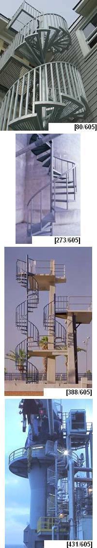 Galvanized Steel Spiral Stairs