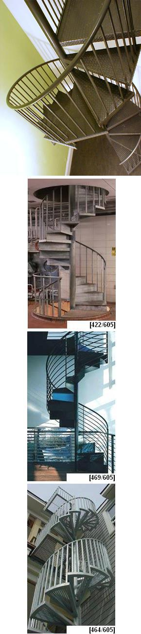 Metal Fully Assembled Spiral Stairs