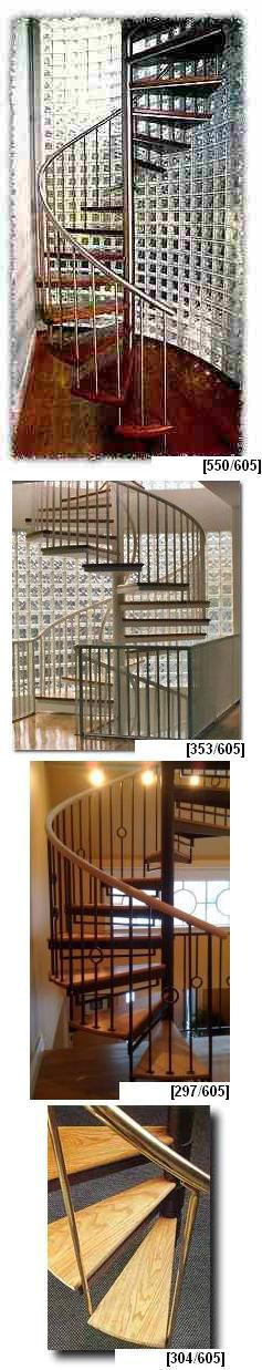 Metal and Wood Spiral Stairs