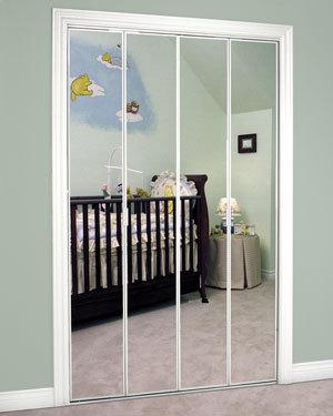 Slimfold Bifold and Overlay Mirrored Doors