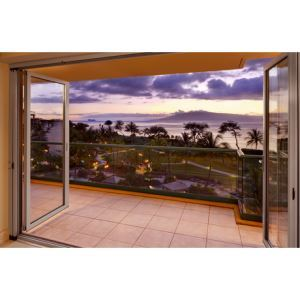 Folding glass walls sl60 aluminum nanawall systems for Retractable glass wall system