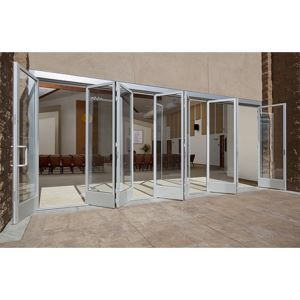 Folding glass walls sl45 aluminum nanawall systems for Collapsible glass wall