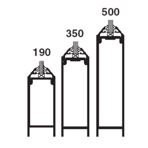 190 350 500 Standard Entrances Swing Entrances