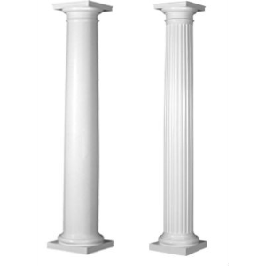 Square non tapered frp columns worthington millwork sweets for Fiberglass square columns