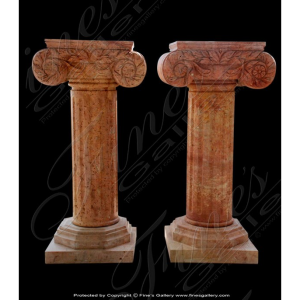 Beige square fluted pedestal mbs 081 fine 39 s gallery for Fluted pedestal base