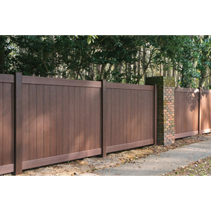 enduris mirage capped pvc fencing