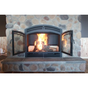 The hearthroom 44 zero clearance wood burning fireplace for New construction wood burning fireplace