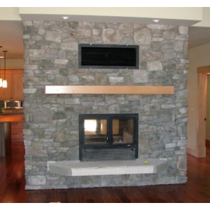 The chalet see through wood burning fireplace acucraft for Wood burning fireplace construction